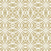 Damask Seamless Vector Pattern. Orient Golden Background