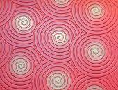 Red Background With Spirals