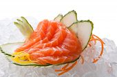 pic of traditional  - traditional Asian sushi rolls sashimi close - JPG