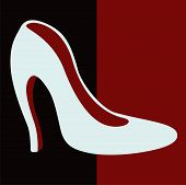 stock photo of mary jane  - Female white shoes with heels  - JPG