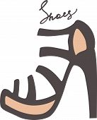 stock photo of mary jane  - Beautiful shoes - JPG