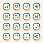 picture of transportation icons  - Transport web icons set - JPG