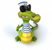picture of crocodiles  - Fun crocodile - JPG