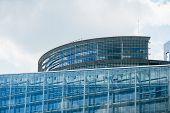 pic of european  - Parliament building in Strasbourg France - JPG