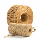 picture of cord  - roll of twine cord and thread isolated on white background - JPG
