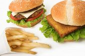 Fish Burger And Fries