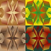 pic of parallelogram  - Set color of seamless geometric patterns with the parallelograms stylized under glass - JPG