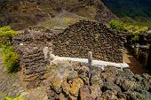 foto of abandoned house  - Exterior of Abandoned Stone Made Houses In a Medieval Village El Hierro Island Spain - JPG