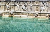 image of piazza  - The Fonte Gaia is a monumental fountain located in the Piazza del Campo in the center of Siena Italy - JPG