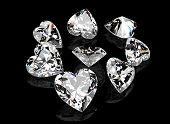 stock photo of gem  - Heart shape gemstone - JPG