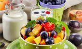 foto of yogurt  - Healthy breakfast  - JPG