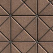 image of paving  - Brown Paving Slabs in the Form of Squares Different Shape - JPG