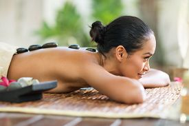 pic of stone-therapy  - Spa stone massage - JPG
