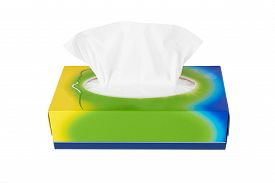 picture of tissue box  - Tissue box isolated on a white background - JPG