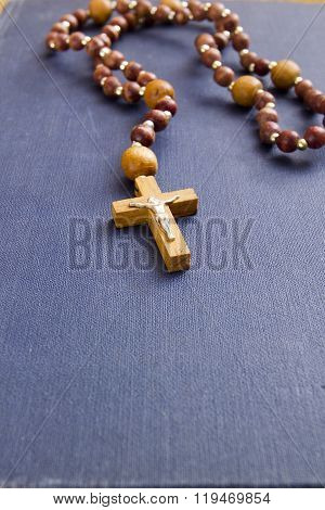 Religious Book With A Catholic Cross