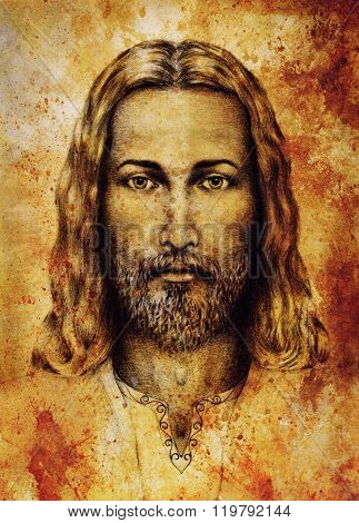 pencils drawing of Jesus on