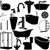 Set Of Bathroom Objects Vector