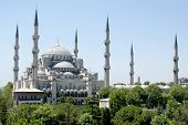 View of Blue Mosque in Istanbul Turkey
