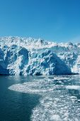 Landschaftlich Hubbard-Gletscher in Alaska