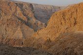Cliffs Dragot, Salt and rocks at Dead Sea, Israel