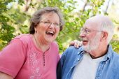 Loving Senior Couple Enjoying the Outdoors Together.