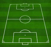 picture of football pitch  - textured illustration of a football pitch with green stripes - JPG