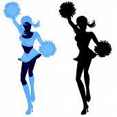 Illustration of a sexy cheerleader
