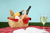 Picnic Basket filled with food that is ready to eat