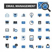 Постер, плакат: email management icons email management logo email management vector email management flat illust