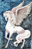 Stock Illustration Of White Pegasus