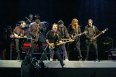 NEW YORK - OCTOBER 4:  Singer Bruce Springsteen and the E Street Band perform their last show for th