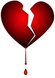 stock photo of broken-heart  - an isolated illustration of a broken heart - JPG