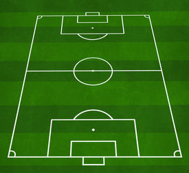 pic of football pitch  - textured illustration of a football pitch with green stripes - JPG
