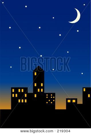 poster of City Skyline At Night