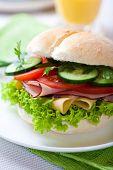 Постер, плакат: Здоровое бутерброд со свежими овощами