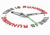 Постер, плакат: время бежит время скользит прочь работает против часы теряя часов время давление