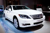 Moscow, Russia - August 25: White  Car Lexus Gs 450 H At Moscow International Exhibition Interauto O