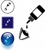 eye drops symbol sign and button