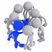 Liderança de equipe aconchegam-se todas as mãos juntas