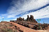 La Palma, Islas Canarias en la cima de la isla del volcán en el Roque de los Muchachos.