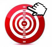Low credit score concept illustration design