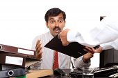 Indian young businessman tension