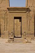 image of aswan dam  - A portal in Philae Temple in Aswan - JPG