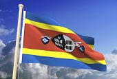 Swaziland Flag (Clipping Path)