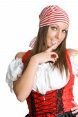 image of wench  - Beautiful young sexy model in pirates clothing - JPG