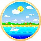 fröhlich Strand, Sonne, Meer und Sommer