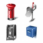 Mailbox vector icons
