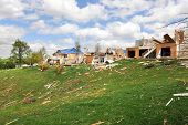 SAINT LOUIS, MO - APRIL 22: Destruction left behind by tornadoes that ravaged the area. April 22, 20