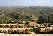 Jordan With Dead Sea On Horizon
