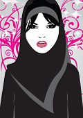 Sweetheart With Black Hijab